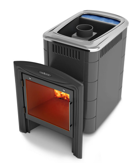 Печь банная Термофор Компакт 2013 Carbon Витра Б (С баком)