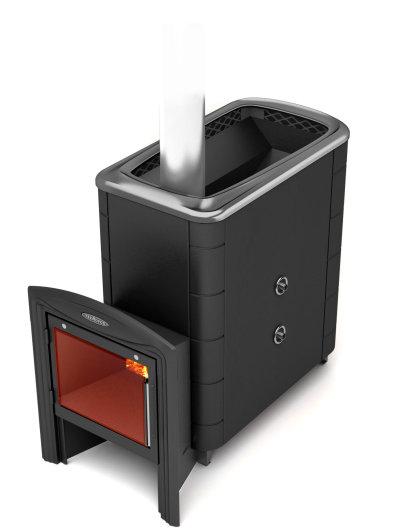 Печь для бани Тунгуска XXL 2013 Inox Витра ТО (С хромом 13% и теплообменником)