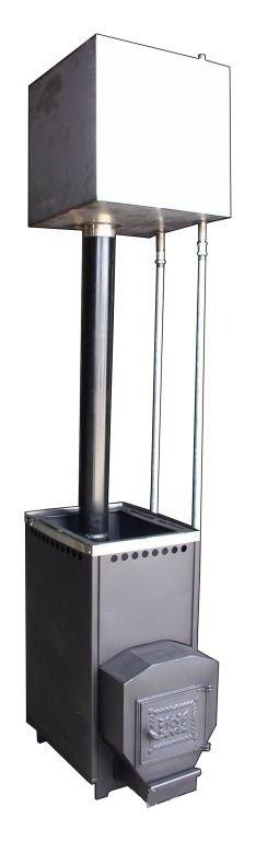 Печь банная Варвара. Бак на 120л. Увеличенная каменка. Без выноса топки