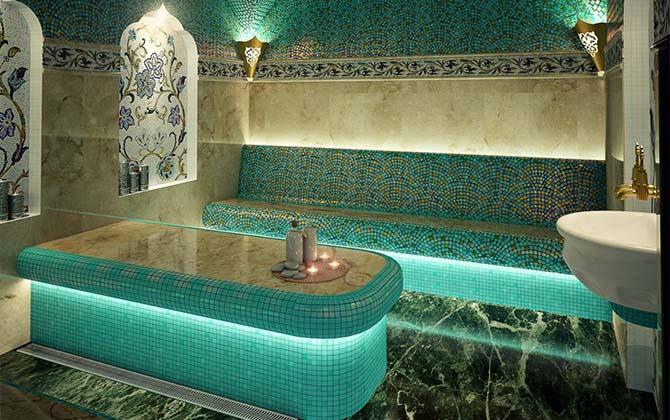Баня хамам с подсветкой