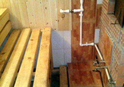 Водопровод в бане